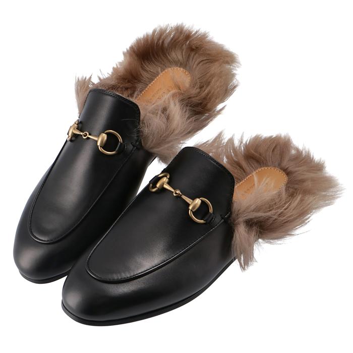 グッチ スリッパ NEW ARRIVAL プレゼント Princetown プリンスタウン レザー パンプス スリッポン レディース ブラック 靴 2020年秋冬新作 1063 GUCCI DKHH0 397749 NERO