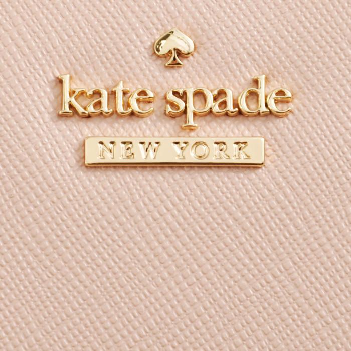 ケイトスペード KATE SPADE ミニ財布 小銭入れ パスケース付き ADALYN 二つ折り財布 ピンクベージュ系 PWRU5451 0007 265Y9IWEH2ebD