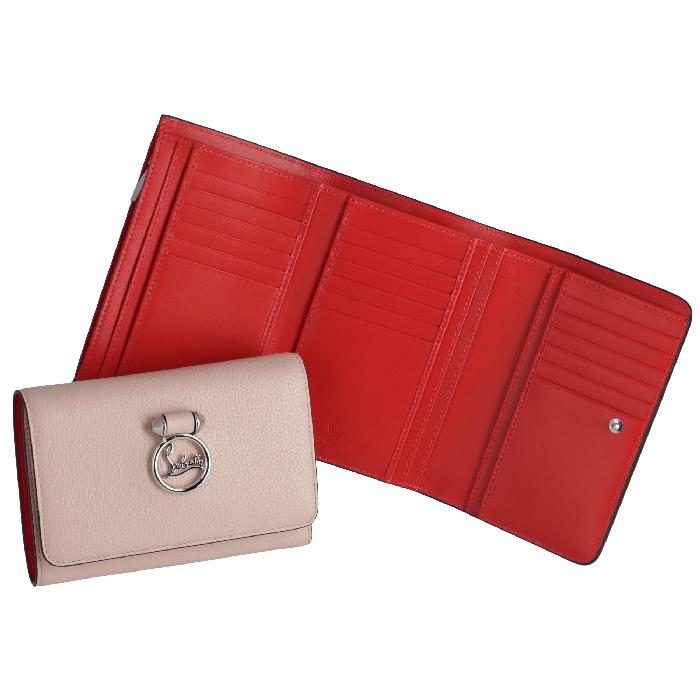 クリスチャンルブタン CHRISTIAN LOUBOUTIN 財布 コンパクト 三つ折り財布 RUBYLOU ベージュ系 3185126 0001 P101