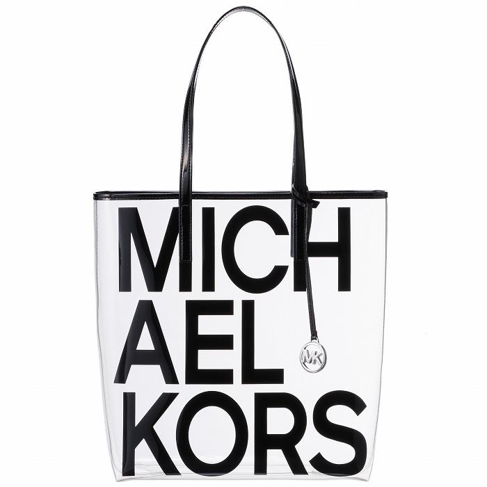 マイケル マイケル コース MICHAEL MICHAEL KORS バッグ トートバッグ ロゴプリント クリアトート ブラック 30S8S01T3P 0011 001