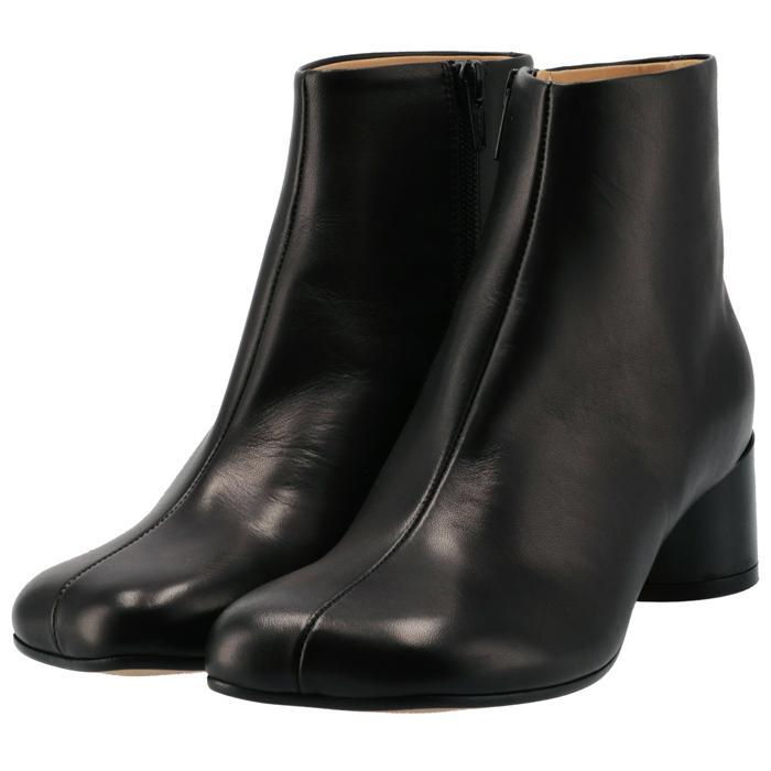 エム シックス メゾン マルジェラ 贈り物 ブーツ 6 ロゴ ヒール シューズ 靴 T8013 MM6 S59WU0173 最新 2021年秋冬新作 MARGIELA PR331 レディース ブラック MAISON BLACK