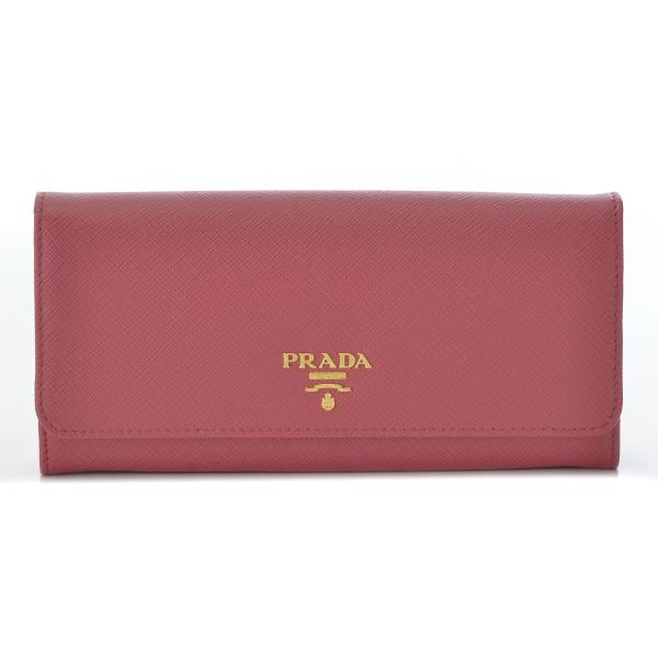プラダ PRADA 財布 型押しカーフスキン 二つ折り長財布 1MH132 QWA 505【AWSALE】