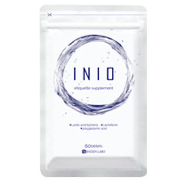 イニオ(INIO) 4袋(240粒入 約120日分)エチケットサプリ 口臭 シャンピニオンエキス ラクトフェリン 月桂樹 菌活