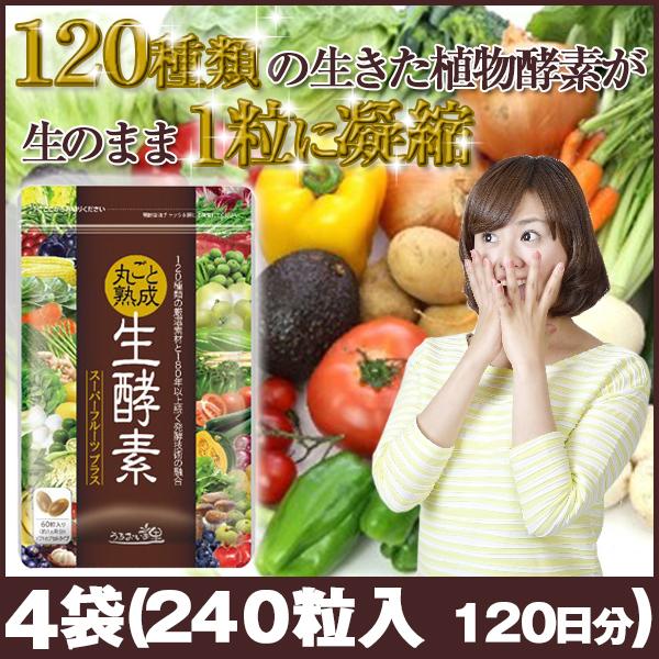 うるおいの里 丸ごと熟成生酵素 4袋(240粒入 約120日分)ダイエット