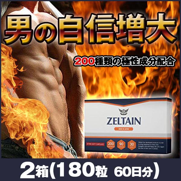 ゼルタイン 2箱(180粒 約60日分)男性サプリメント 活力
