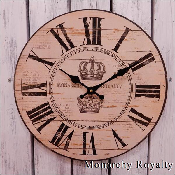 お部屋にちょっと飾りたい 豪華な アナログ時計で温もりを感じます 壁掛け時計 Monarchy Royaltyrデザイン 直径34センチサイズアンティーク風仕上げでおしゃれ感を出したい方に プレゼントやお祝い 再再販 自分用にいかがですか 楽ギフ_メッセ入力