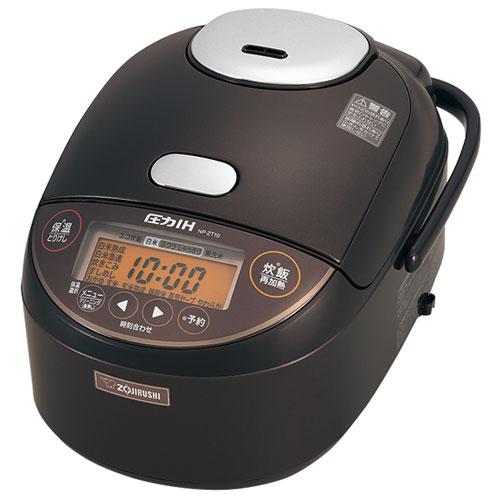 【長期保証付】象印 NP-ZT18-TD(ダークブラウン) 極め炊き 圧力IH炊飯ジャー 1升