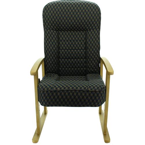 S1W-557G7.43-KOB(ネイビー) レバー付 高座椅子 高さ調節有