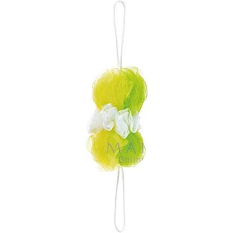 マーナ 贈物 背中も洗えるシャボンボール B873G 男女兼用 グリーン