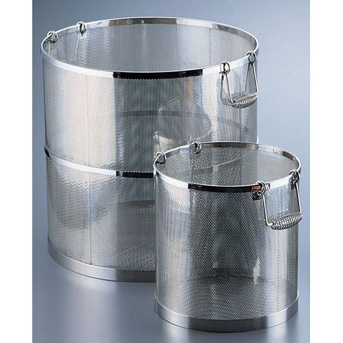 三宝産業 UK 18-8パンチング丸型スープ取りざる 39cm用