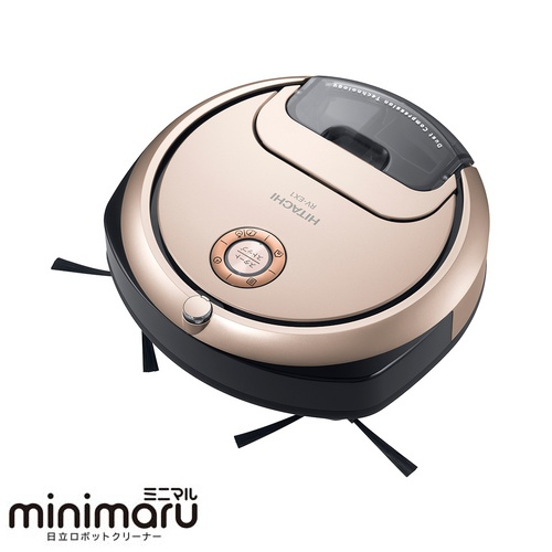 【在庫あり】14時までの注文で当日出荷可能! 【長期保証付】日立 HITACHI minimaru(ミニマル) ロボット掃除機 RV-EX1-N(シャンパンゴールド) RVEX1