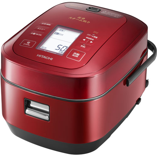【長期保証付】日立 HITACHI RZ-AW3000M-R(メタリックレッド) ふっくら御膳 圧力スチームIH炊飯器 5.5合 RZAW3000MR
