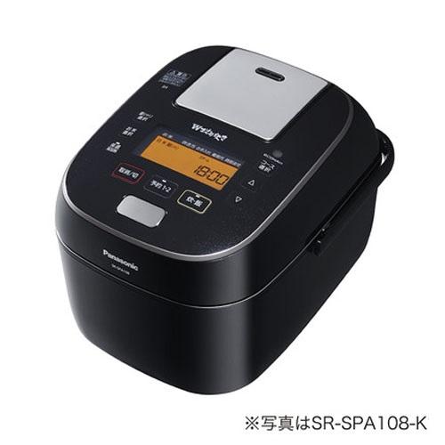 【長期保証付】パナソニック Panasonic SR-SPA188-K(ブラック) Wおどり炊き スチーム&可変圧力IHジャー炊飯器 1升 SRSPA188K