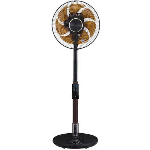 【長期保証付】ユアサプライムス YT-DVJH3427YFR-K(ブラック) DC扇風機 音声操作 リモコン付