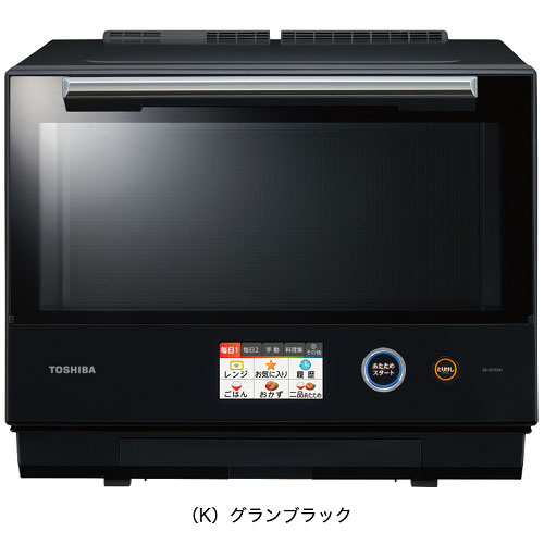 【長期保証付】東芝 TOSHIBA ER-SD7000-K(グランブラック) 石窯ドーム 過熱水蒸気オーブンレンジ 30L ERSD7000K