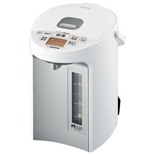 【長期保証付】象印 CV-GT30-WA(ホワイト) 優湯生(ゆうとうせい) マイコン沸とうVE電気まほうびん 3L