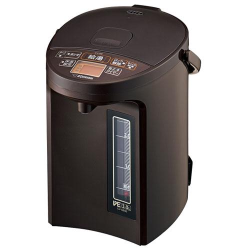 【長期保証付】象印 CV-GB30-TA(ブラウン) 優湯生(ゆうとうせい) マイコン沸とうVE電気まほうびん 3L