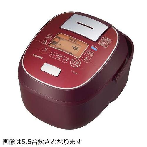 東芝 TOSHIBA RC-18VRM-RS(ディープレッド) 合わせ炊き ジャー炊飯器 1升 RC18VRMRS