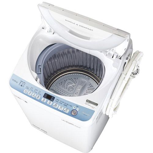 【長期保証付】シャープ SHARP ES-T711-W(ホワイト) 全自動洗濯機 上開き 洗濯7kg EST711W