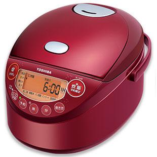 【長期保証付】東芝 RC-6XM-R(グランレッド) 備長炭鍛造かまど釜 IH炊飯器 3.5合