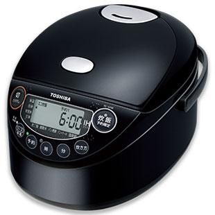 【長期保証付】東芝 RC-6XM-K(ブラック) 備長炭鍛造かまど釜 IH炊飯器 3.5合
