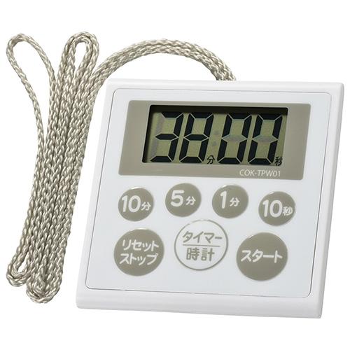 オーム電機 COK-TPW01 時計付き防水タイマー