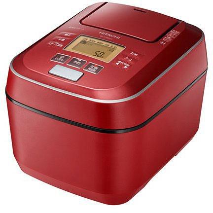 日立 RZ-V100CM-R(メタリックレッド) 圧力&スチーム ふっくら御膳 IHジャー炊飯器 5.5合