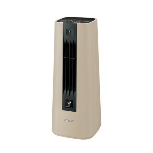 シャープ HX-JS1-C(ベージュ系) 人感センサー付セラミックファンヒーター プラズマクラスター7000 1200W