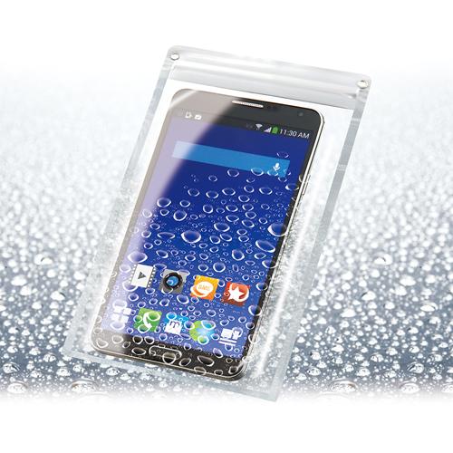 収納したまま操作ができる! 大型スマートフォン対応! スマートフォンアクセサリー スマートフォン タブレット ホビー用品 電池 OA用品 防水クリアケース スマートフォン ワイドタイプ