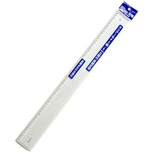 5mm方眼付きクリア直線定規 定規 製図用品 セール品 文房具 事務用品 雑貨 筆記具 筆記用具 のり 50cm直定規 文具 クリップ ペン 選択 テープ