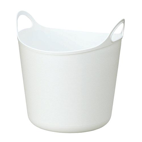 プラスチック製 かご バスケット 未使用 小物入れ インテリア小物 置物 インテリア 収納 家具 雑貨 小物収納 ケース 収納家具 洗濯用品 ボックス アルゴ ホワイト 小物 Lサイズ 掃除用品 洗剤 高額売筋