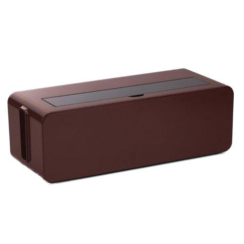 配線のゴチャゴチャを目隠し ホコリも防ぐ ケース 数量は多 ボックス 小物 ブラウン 激安 インテリア 1000円均一 テーブルタップボックスL