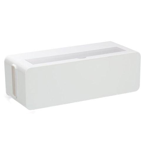 配線のゴチャゴチャを目隠し ホコリも防ぐ ケース クリアランスsale 期間限定 ボックス 小物 テーブルタップボックスL インテリア 1000円均一 ホワイト 70%OFFアウトレット