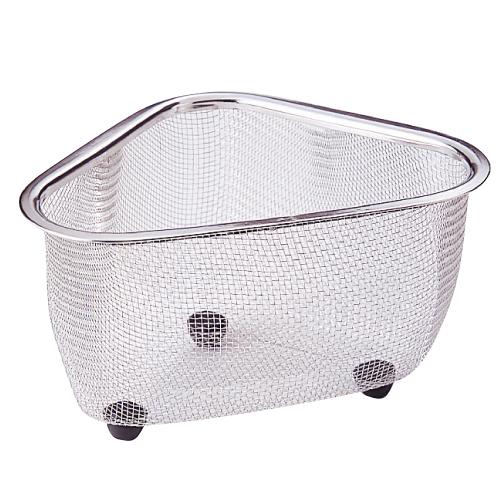 三角コーナー キッチン用品 雑貨 エプロン 調理器具 正規品 セール 食器 18-8ステンレス網三角コーナー シンクまわり小物