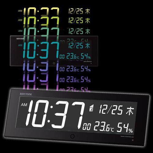 8RZ184SR02 置き掛時計 イロリア ジー 【送料無料(一部地域除く)】