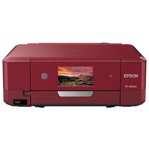 エプソン カラリオプリンター レッド EP-808AR インクジェット プリンター スキャン パソコン PC用品 スキャナー 電化製品【代引不可】【送料無料(一部地域除く)】