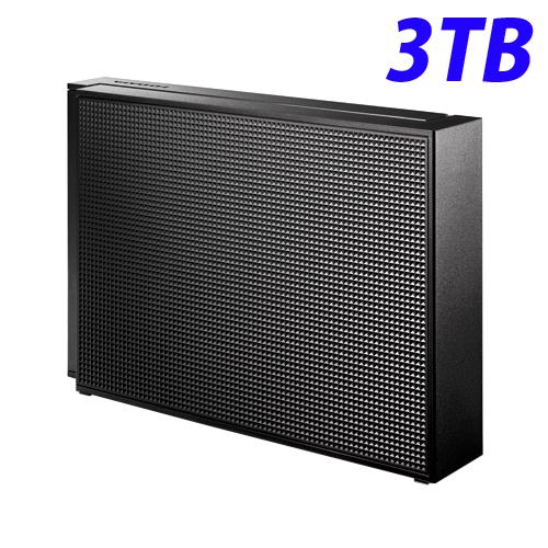 【取寄品】アイ・オー・データ USB 3.0/2.0対応 外付ハードディスク 3TB ブラック HDCZ-UT3KB【送料無料(一部地域除く)】