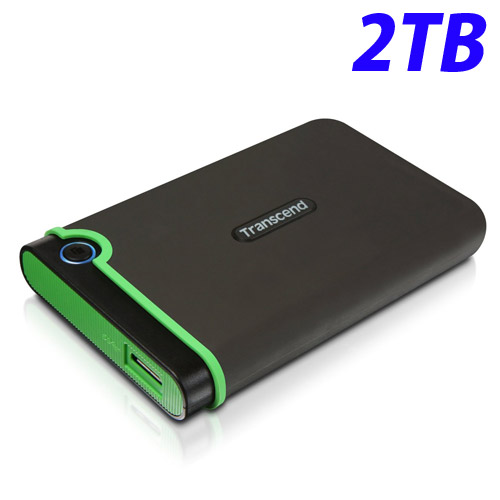 トランセンド USB3.1 2.5インチ ポータブルHDD 耐衝撃 M3シリーズ 2TB TS2TSJ25M3S 外付け ポータブル テレビ録画 【送料無料(一部地域除く)】
