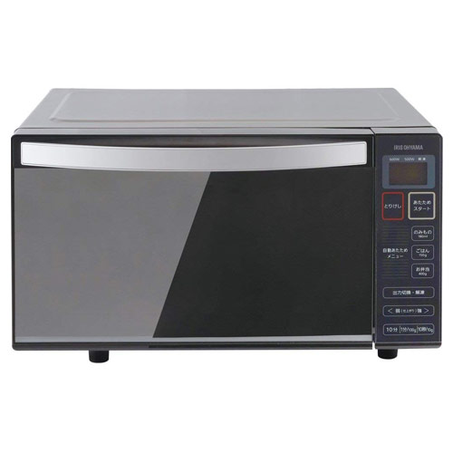 アイリスオーヤマ 電子レンジ フラットテーブル ミラーガラス ブラック IMB-FM18-5 フラットタイプ 調理家電 【代引不可】【送料無料(一部地域除く)】