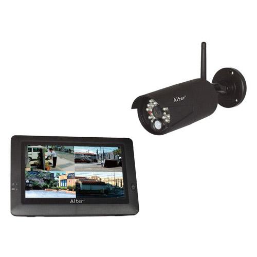 【取寄品】キャロット 防犯カメラ ハイビジョン無線カメラ&モニターセット AT-8801 【送料無料(一部地域除く)】