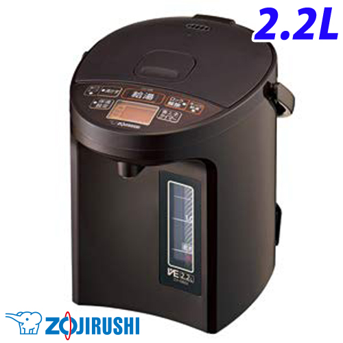 象印 電動ポット 優湯生 2.2L ブラウン CV-GB22-TAマイコン沸とう VE電気まほうびん 電気ポット ポット 【送料無料(一部地域除く)】