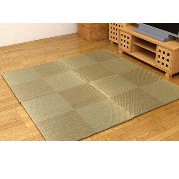 純国産 ユニット畳 『シンプルノア』 ブラウン 82×82×1.7cm(6枚1セット) 軽量タイプ【代引不可】【送料無料(一部地域除く)】
