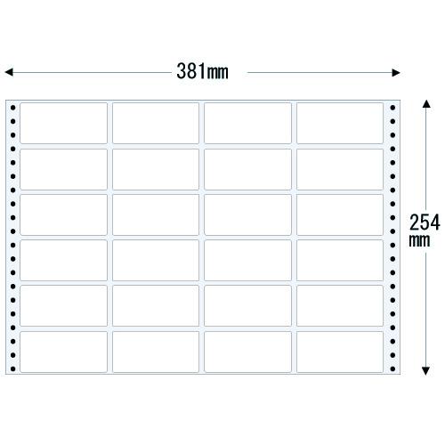 ラベルシール 東洋印刷 TH15F タックシール (連続ラベル) 薄型タイプ 500折【代引不可】【送料無料(一部地域除く)】