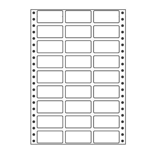 ラベルシール MT7L タックシール (連続ラベル) レギュラータイプ 500折×2【代引不可】【送料無料(一部地域除く)】