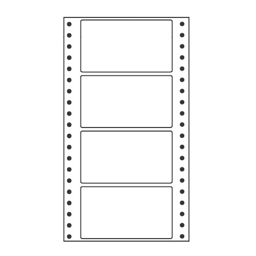 ラベルシール MT5F タックシール (連続ラベル) レギュラータイプ 500折×2【代引不可】【送料無料(一部地域除く)】