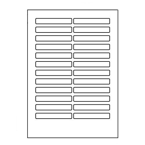 ラベルシール LDW24EB ページプリンタラベル 500(100×5)シート【代引不可】【送料無料(一部地域除く)】