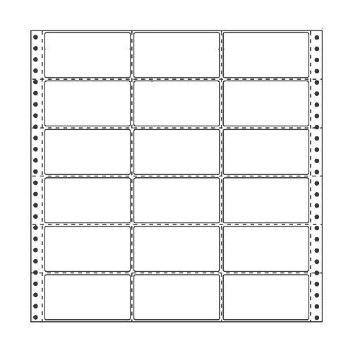 ラベルシール 東洋印刷 R13A タックシール (連続ラベル) 再剥離タイプ 500折【代引不可】【送料無料(一部地域除く)】