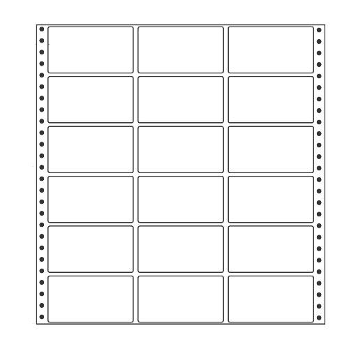 ラベルシール 東洋印刷 MT12P タックシール (連続ラベル) レギュラータイプ 500折【代引不可】【送料無料(一部地域除く)】