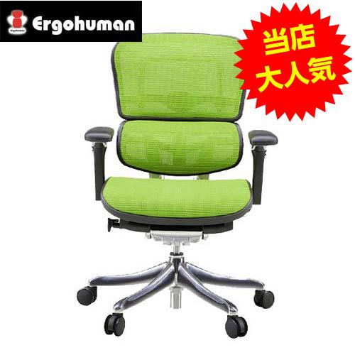 オフィスチェア 「エルゴヒューマンプロ」 ロー・3D グリーン EHP-LAM KMD-34GRN【代引不可】【送料無料(一部地域除く)】