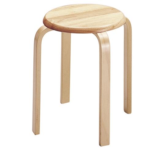 木製スツール ナチュラル 6脚セット 【代引不可】【送料無料(一部地域除く)】